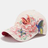 المرأة قبعة الشمس واقية من الشمس أزياء فراشة التطريز بطة قبعة قبعة بيسبول