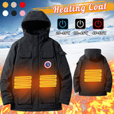 5V USB Electric Battery Hooded Heating Coats Washable Winter Warm Heated Jacket