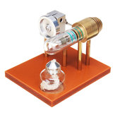 Hot Air Stirling Engine Model Science Toy Fysiek principe Metal Model Toys