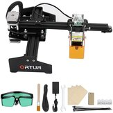 ORTUR Laser Master Mini Eye-Protection Laser Engraver CNC Portable Laser Engraving Cutting Machine Logo Picture DIY Making Laser Cutter for Acrylic Wood and Metal 130x150mm Engraving Area