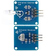 3Pair Mini 38KHz IR Infrared Transmitter Module + IR Infrared Receiver Sensor Module Geekcreit for Arduino - products that work with official Arduino boards