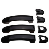 7pcs Set Gloss Black Door Handle Covers Alças Para VW Transporter T5 T6
