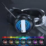 Bakeey Gaming Headphone USB مدخل 50 مللي متر سماعة رأس للسائق قابلة للطي فوق الأذن سماعة رأس للألعاب إلغاء الضوضاء HIFI سماعة رأس مزودة بميكروفون