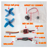 XK K110 RC Helicopter Spare Parts Brushless Tail ESC and Motor System Upgrade Kits