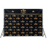 5x3FT 7x5FT Black Red Carpet Event VIP Pattern Photography Backdrop Studio Prop Background