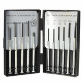 Deffrun Set of 11 Precision Screwdriver Small Hobby Jewelry Watch Clock Repair Tool Case