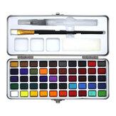 Conjunto de tinta para aquarela Seamiart 50 cores Pigmento de aquarela para pintura portátil para fontes de desenho de arte iniciante