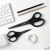 2pcs Titanium-plated Scissors Black Sharp Sets Antislip gereedschapset