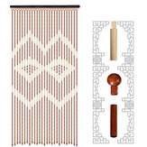 Door Curtain Bamboo Wooden Bead String Blinds Fly Screen for Household