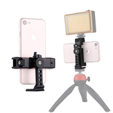 PULUZ PU367 360 Degree Rotating Universal Phone Metal Clamp Clip Holder Bracket for Smartphones