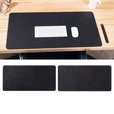 Portátil de doble cara grande ratón Pad Gamer Impermeable Alfombrilla de escritorio de gamuza de cuero PU para computadora ratónpad Teclado Cubierta de mesa