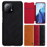 Nillkin for Xiaomi Mi 11 Case Bumper Flip Shockproof with Card Slot PU Leather Full Cover Protective Case Non-Original