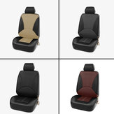 1X Universal Car Seat Covers Front Seat Faux PU Leather Covers Cushion Stitching