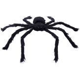 230CM Halloween Giant Spider Black Soft Hairy Scary Spider Toy voor buiten Yard & Indoor Decoration