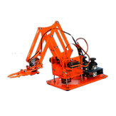 DIY Colorful Mechanical Robot Arm Kit with Infrared Controller Metal Servo for