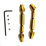 Transmission Drive Shaft For WPL B1 B16 B24 B36 C1 C24 C34 JJRC Q60 Q61 Q65 MN 90 RC Car Parts Gold
