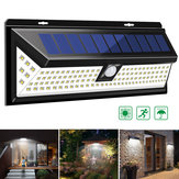 118 LED Solar Lampa Outdoor Garden Yard Wodoodporna PIR Motion Sensor Light