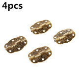 4pcs Antique Hinge Tin Printing Wooden Box Hinge 6 Hole Small Hinge