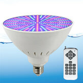 AC12V/120V E27 25W 252LED RGB Underwater Swimming Pool Light Color Change PAR38 Lamp+18 Key Remote Control
