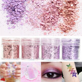 Pink Purple Mixed Glitter Prášek 1mm Sequins Shining Dust Nail Art Dekorativní oční stíny 10ml