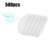500Pcs 3-Layers Masks Disposable Pads PM2.5 Filter Mat Anti Dust Haze Breathable Mouth Face Mask Replacement Gasket