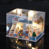 iiecreate K-019 Helen The Other Shore DIY Dollhouse com móveis Light Music Cover Gift House Toy