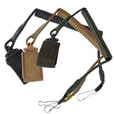 Outdoor Climbing Spring Sling Lanyard Tactical Belt Strap Hanging Buckle For Duty Camping Security