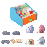 Wooden Cash Register Shop Grocery Checkout Play Game Learn Education Toys for Kids Perfect Gift