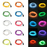 1M 10 cores 3V Flexível Neon EL Fio Luz Light Party Decor Light Bateria Powered Controller