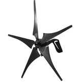 DC 12V/24V 1000W Peak 5 Blades Black Wind Turbine Generator With Charge Controller