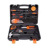 19 in 1 Precision-hardwarekit Huishoudelijke handgereedschapsset Schroevendraaiersleutel Hammer Plier Auto Repair Woodwork Tool
