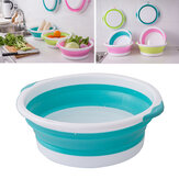 4-Size Optional Plastic Foldable Round Dish Tub Portable Hand Feet Washing Basin Space Saving Washtub For Outdoor Camping Travel