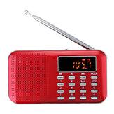 L-218AM FM AM Radio Digital LCD Supper Bass Mini Speaker AUX USB TF LED Light