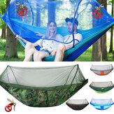 250x120 cm doppia persona campeggio amaca con zanzariera traspirante pieghevole dormire appeso altalena letto viaggio all'aperto
