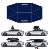Xmund 400x220cm Automatic Protection Car Tent Umbrella Folding Remote Control Anti-UV Car Sunshade Waterproof Portable Movable Carport Canopy Cover Stand for Outdoor Camping Travel Blue