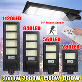 PIR Motion Sensor LED Solar Street Light Security Wall Lamp Waterproof Outdoor Garden+Remote Control