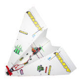 550mm Wingspan DIY Magic Board Paper RC Airplane RC Plane PNP for Beginner