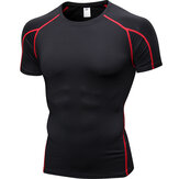 Men Short Sleeve Running Shirt Quick Dry Training T Shirt Fitness Shirt Sport Tops Tight Tees Gym Clothing Sportswear
