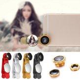 Universal 3in1 Fisch Augen Weitwinkel Zoom Kamera Micro Lens Kit für iPhone Samsung Handy