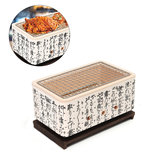 4 In 1 Japanese Korean Ceramic Hibachi BBQ Table Grill Yakitori Barbecue Charcoal Cooking Stove