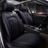 Ensembledeprotecteurdecoussinde couverture de siège Surround en cuir complet universel pour 5 sièges de voiture à deux styles