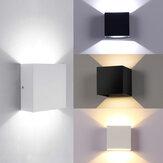 Luzes de parede modernas LED para cima / para baixo Acessórios de iluminação externa interna Cube lâmpada de arandela