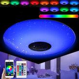 E27 45W RGB Smart LED Lâmpada Música Bluetooth Speaker APP Pingente Lâmpada do teto + Controle Remoto AC85-265V