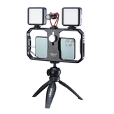 Ulanzi U-Rig II Metall Universal Telefon Video Rig Handgriff Stabilisator Vlog Cage Case Grip Filmmaking Case für iPhone Android