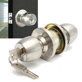 Roestvrij stalen ronde deurknoppen Handvat Entree Interieur Passage Slot Entry met sleutel