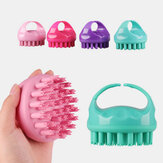 Hair Scalp Massager Soft Silicone Shampoo Brush Head Scalp Massager Dandruff Brush Exfoliating Treatment
