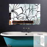 Honana Acrylic Mirrored DIY Decorative Wall Stickers 3D Mural Bathroom Mirror Sticker Decoration