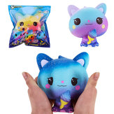 Vlampo Squishy Jumbo Kitten Holding Ice Cream 15CM Licence Lent Rising Avec Emballage Collection Cadeau Jouet