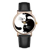 BAOSAILI Cute Style Ultra Thin Women Wrist Watch Cat Design Leather Strap Quartz Watch