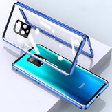 Bakeey untuk Xiaomi Redmi Note 9S / Redmi Note 9 Pro Case 2 in 1 with Lens Protector Magnetic Flip Double-Side Tempered Glass Metal Full Cover Protective Case Non-original